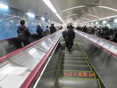 新御茶ノ水駅のエスカレーター